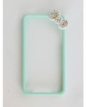 iPhone Mint Green with Bow Bumper