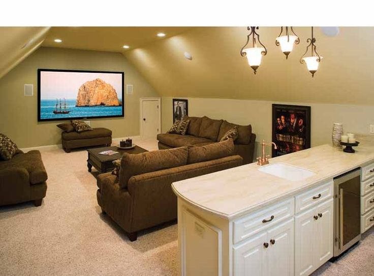 Lovely Bonus Room And 1 Level Plan DecoratingGarage DecoratingDecorating IdeasHome Theater