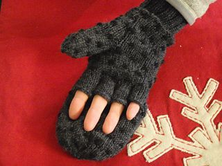 Convertible thrummed mittens free knitting pattern - good idea, would be super warm and functional