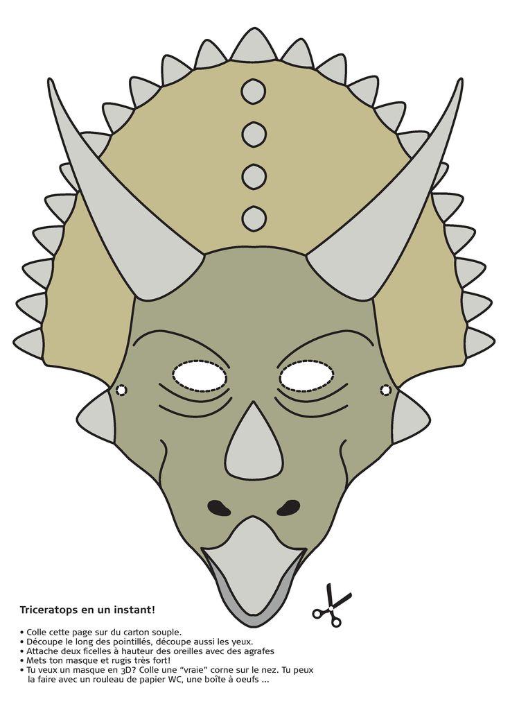 Masque de Triceratops (marche à suivre en FR) - Institut royal des Sciences naturelles de Belgique, IRSNB