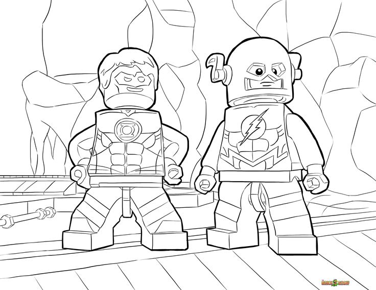 LEGO DC Universe Super Heroes Coloring Pages : Free Printable LEGO DC Universe Super Heroes Color Sheets