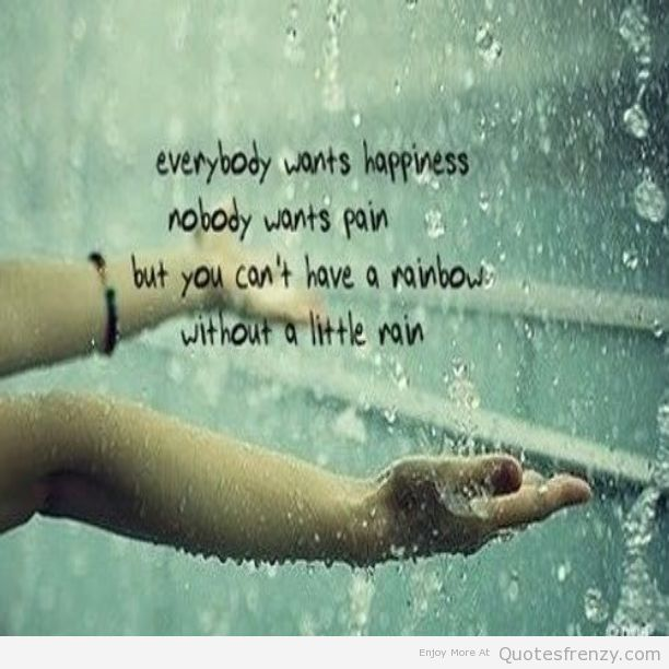 Inspirational Quotes About Rain | quotes text happiness happy rainbow pain rain quotes jpg 612 612