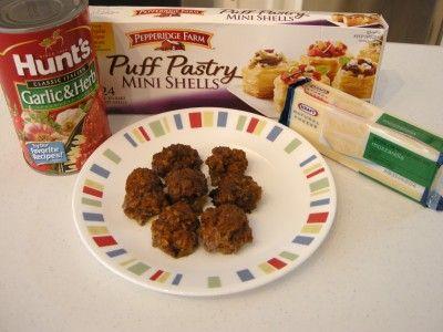 Puff Pastry Meatball Marinara Bites | Southern Plate