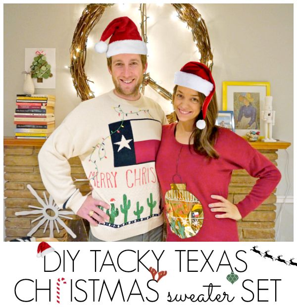 DIY Tacky Texas Christmas Sweaters by Jamie {C.R.A.F.T}