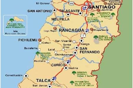 My second area was in San Fernando, Chile--this map show where San Fernando is in relation to Santiago.  It was much more rural.