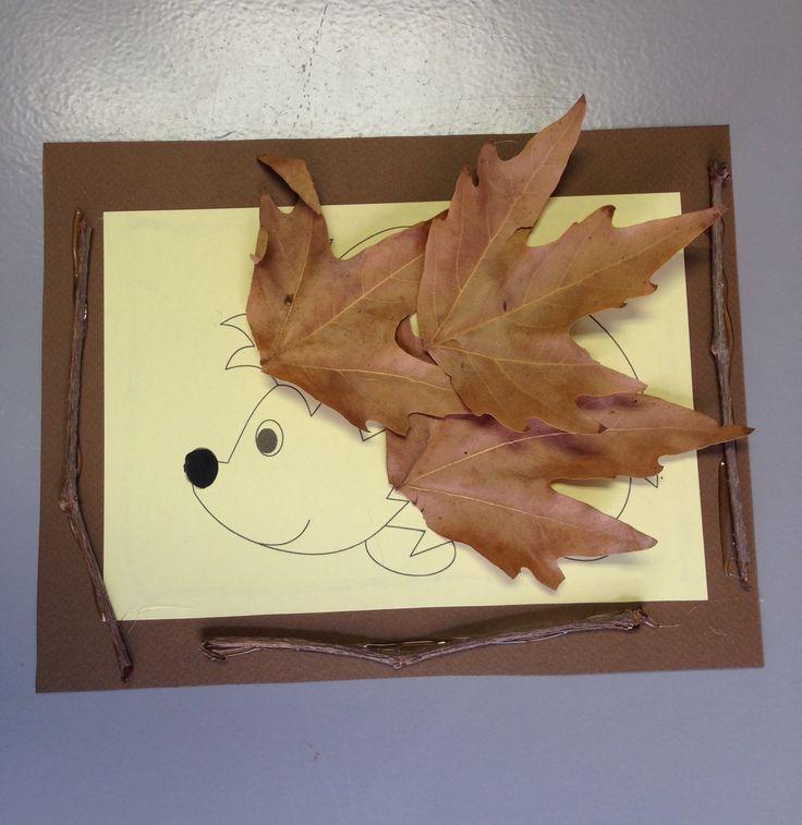 Hedgehog with leaves 🍃