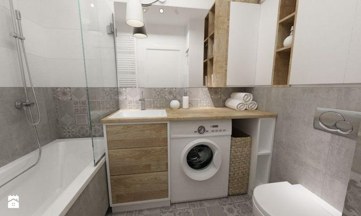 łazienki w stylu skandynawskim - Łazienka, styl nowoczesny - zdjęcie od Grafika i Projekt architektura wnętrz