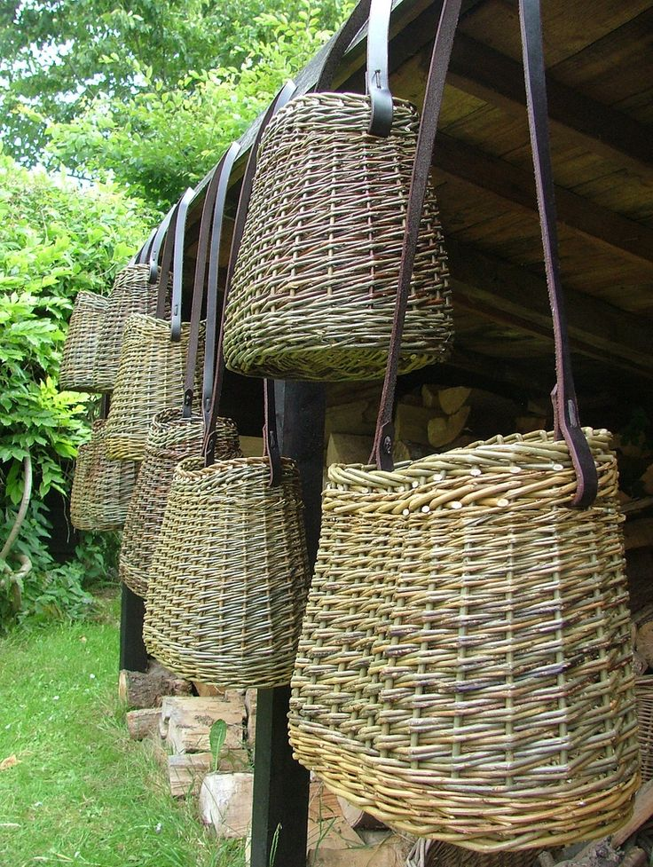 Pictures of some of the many willow baskets