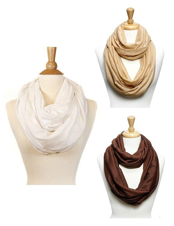 Plain Infinity Women Scarves Set of 3 : Shaka Time Hawaii Clothing Store