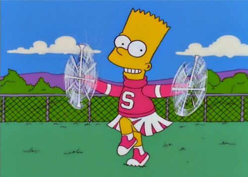 Bart Simpsons cheerleader tattoo