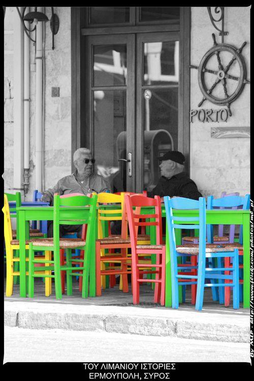 έφτασε καλοκαιράκι, θα γεμίσουν τα καθίσματα κι οι ιστορίες θα αναβιώσουν για άλλη μια φορά. summer is here, all the sits will be full and the story telling will revive once again. Εrmoupolis, Syros by MLP