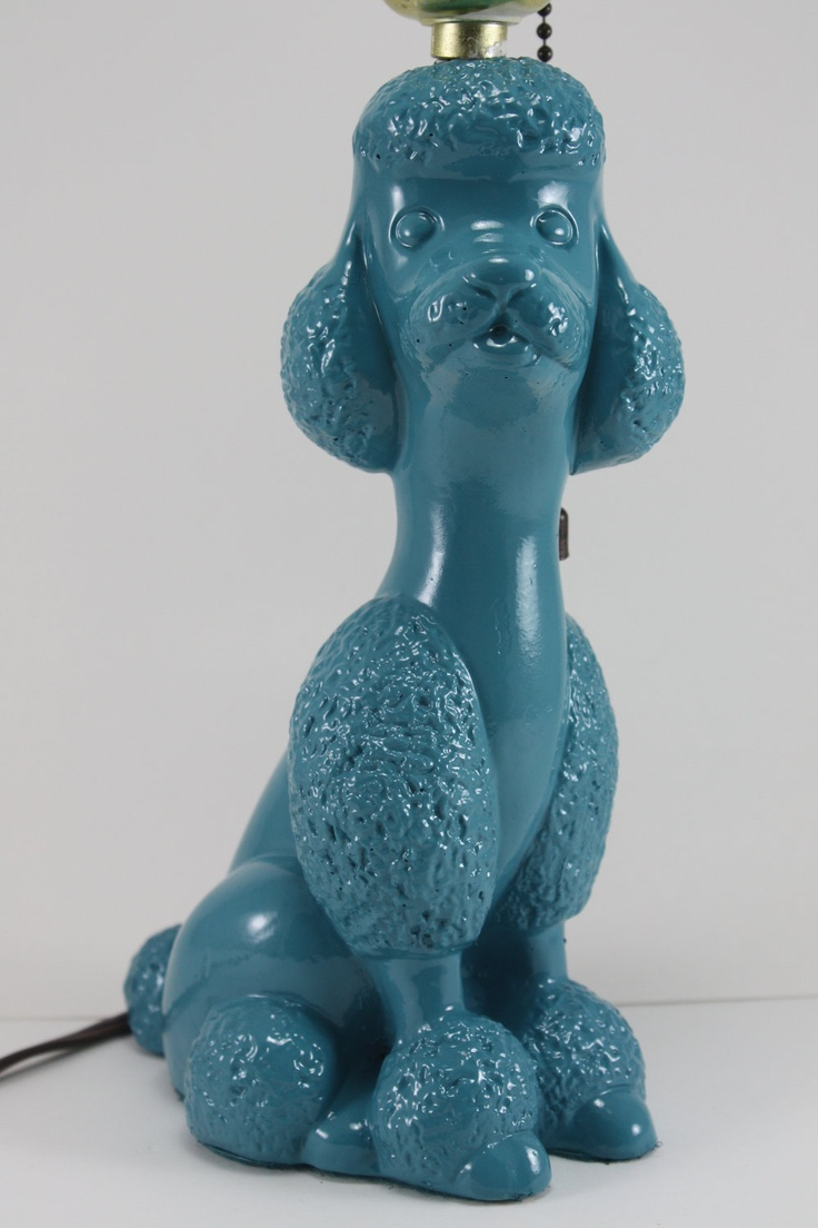 lamp vintage poodle