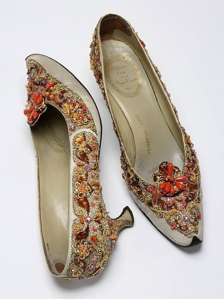 Pair of evening shoes | Roger Vivier | V Search the Collections, 1920's