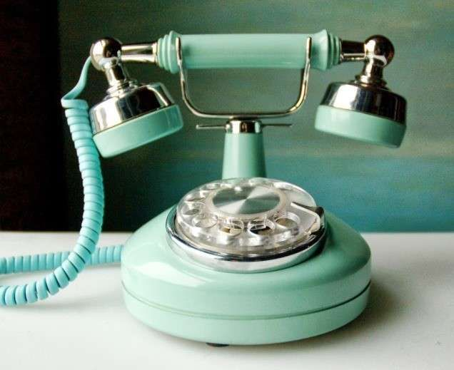 Telefoni classici di design - Modello vintage verde acqua