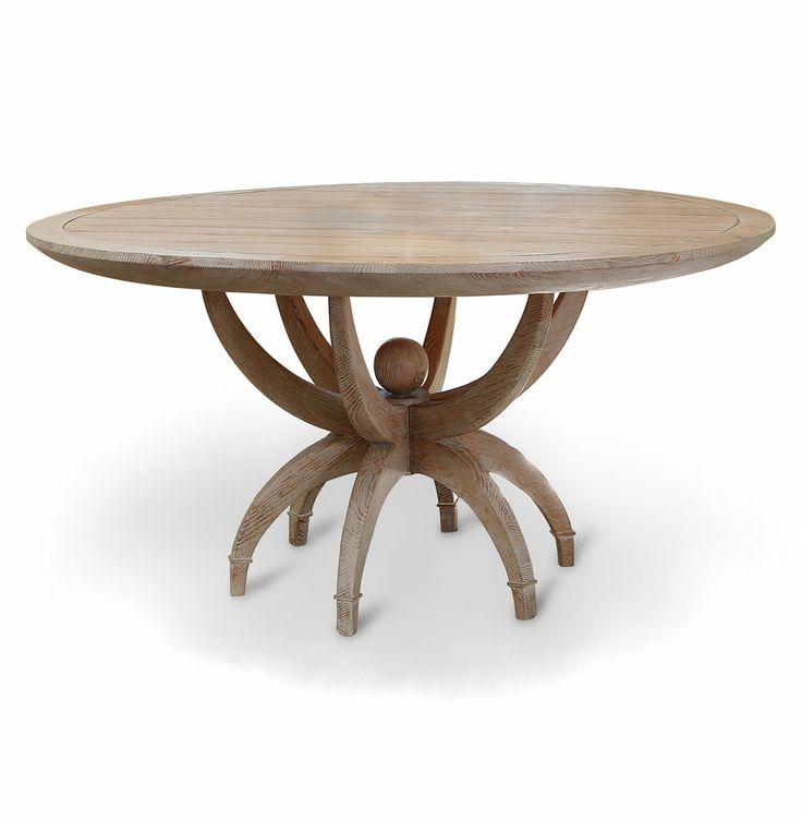 Superior Atticus Limed Oak Contemporary Round Dining Table | Round Dining Table,  Contemporary And Rounding Part 24