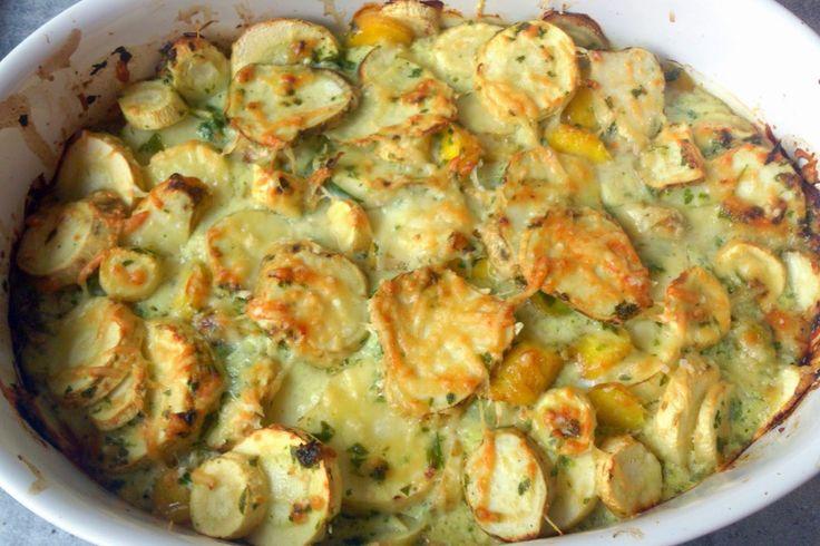 Gudrun's daily kitchen - ein österreichischer Foodblog: Pastinaken- Süßkartoffeln- gelbe Rüben Auflauf