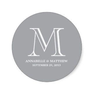 Wedding Monogram Autocollants, Stickers Wedding Monogram