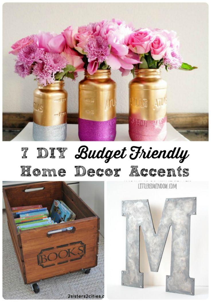 7 DIY Budget Friendly Home Decor Accents
