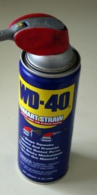 Remove labels from plastic bottles or jars with WD-40 in a minute