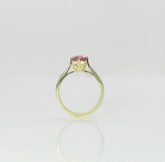 Anillo de turmalina rosa anillo anillo de turmalina