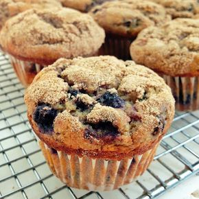 100% Whole Wheat Blueberry Muffins - No one will guess these moist, tender, absolutely delicious muffins are 100% whole wheat.
