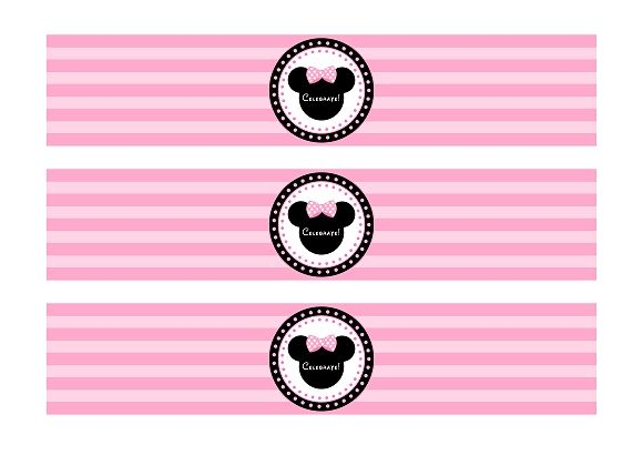 free minnie mouse printable water bottle labels