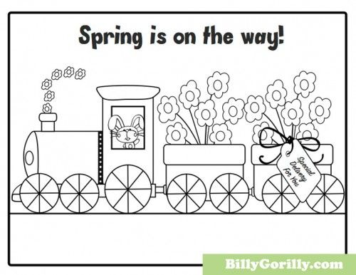 17 best images about spring time crafts for kids on for Spring themed coloring pages