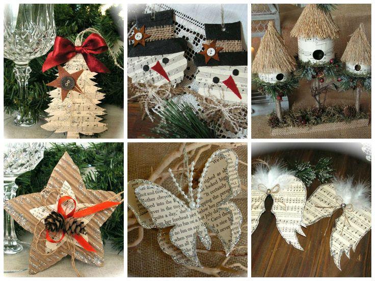Переработка бумаги для зеленых рождественские украшения