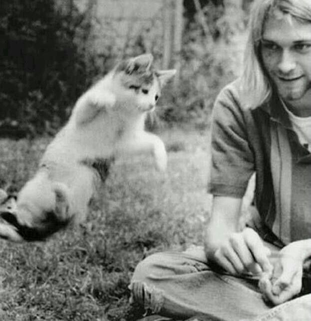 Kurt with his cat :3