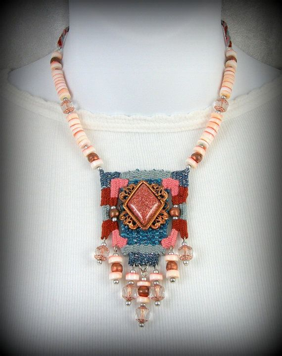 Sonoran Skies 2 Southwestern Woven Necklace with by CindyCaraway