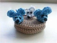 Gehaakte beschuit met muisjes #muis #muisjes #beschuit #geboorte #kraamcadeau #haakpatroon #patroon #haken #gehaakt #mice #mouse #crochet #pattern #amigurumi #DIY