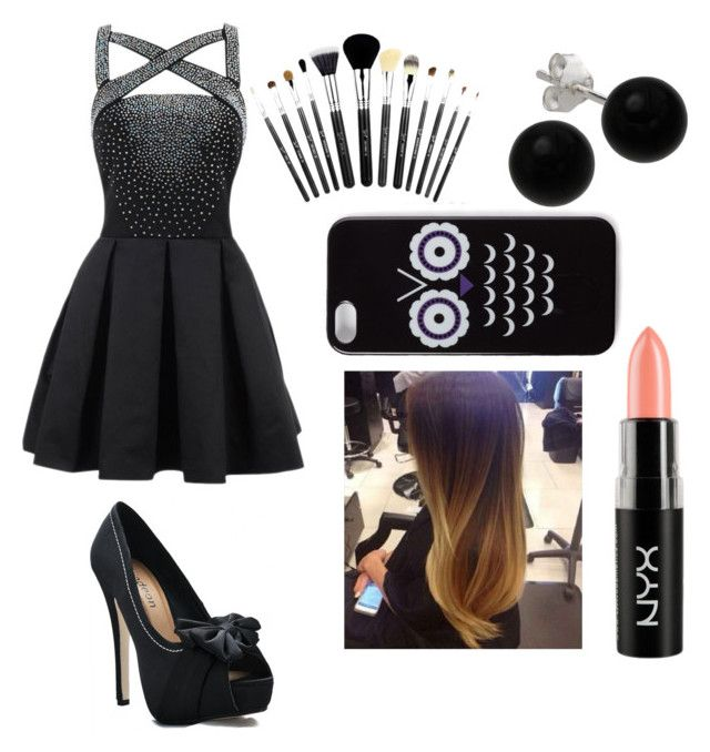 black night by omgispolyvore on Polyvore featuring moda, Bridge Jewelry, Forever 21, NYX and blackfriday