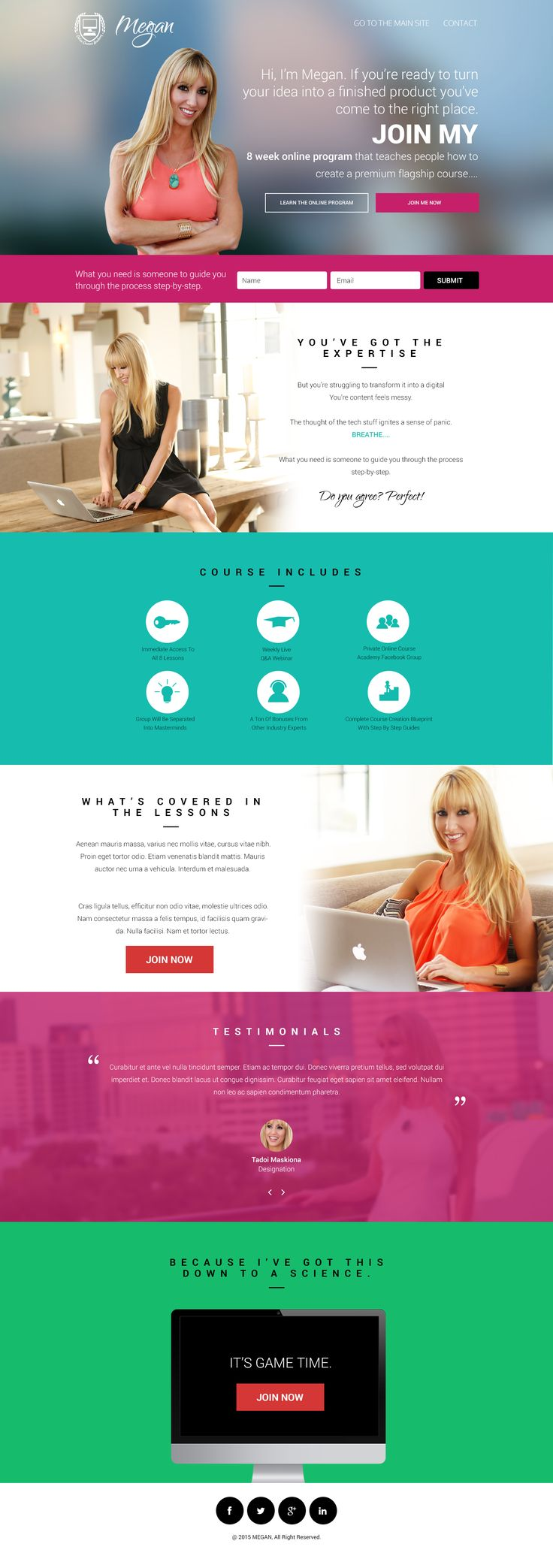 Design #20 by praka | Create a modern, sleek, fun landing page/sales page for the launch course on how to create an online course.