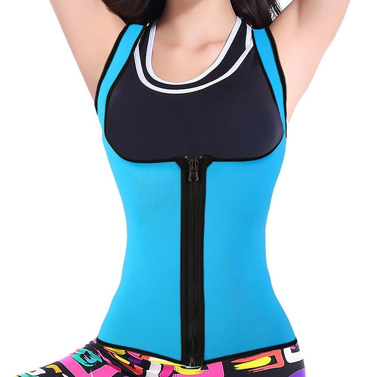 Features5: Creates better body shape while wearing this vest Gender: Female Material: Neoprene Fabric: 62% Rubber,33% Nylon,2% Polyester Package Includes: 1x Sweat Vest : Size Type: Regular