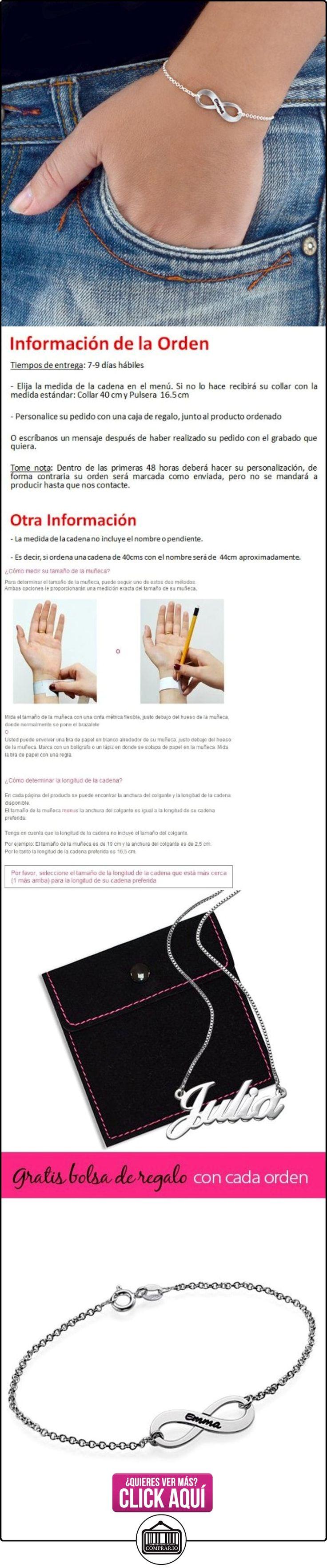 Pulsera Infinito grabada en Plata -Fabricacion a medida con cualquier Letra!  ✿ Joyas para mujer - Las mejores ofertas ✿ ▬► Ver oferta: https://comprar.io/goto/B00KRY2CNC