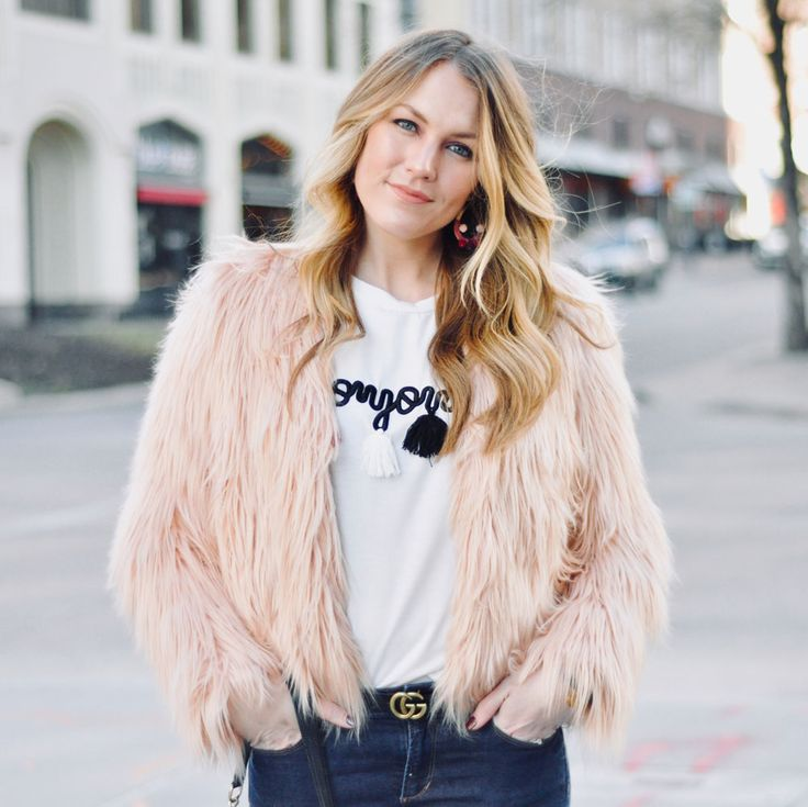 You Can Take the Girl Out of Paris... | Faux Fur Jacket Look on AmandasOK.com