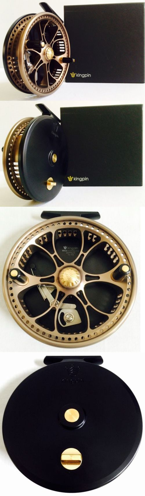 Center Pin and Mooching Reels 179951: Kingpin Zeppelin Centerpin Float Reel (Bronze With Black Backplate) **New** BUY IT NOW ONLY: $750.0