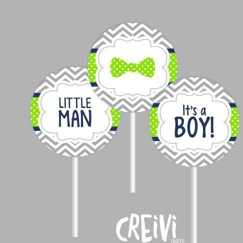 Instant Download Navy and Lime Green Bow Tie Boy baby shower, cupcake toppers, Boy baby shower toppers, DIY, Printable ( M005) - http://babyshowercupcake-toppers.com/instant-download-navy-and-lime-green-bow-tie-boy-baby-shower-cupcake-toppers-boy-baby-shower-toppers-diy-printable-m005/