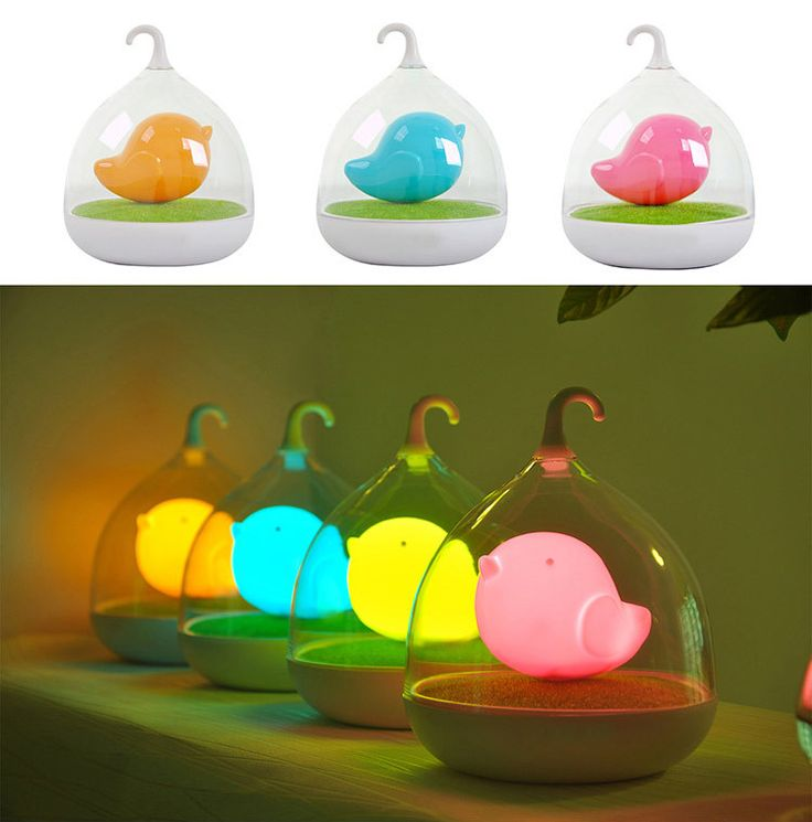 0.5W LED birdcage 3 modes touch sensitive night light USB rechargeable lamp for outdoor camping  ($7.98)