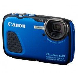 Avec le PowerShot D30, Canon propose un appareil photo numérique d'une étanchéité exceptionnelle. Submersible jusqu'à 25 mètres de profondeur, il est le compagnon rêvé de vos explorations sous-marines.Compact et robuste, le Canon D30 résiste aux chutes de 2 mètres, au gel (-10° C) et à la poussière. Il garantit des résultats splendides, même en basse lumière, grâce à son capteur haute sensibilité de 12,1 millions de pixels.Le D30 dispose d'un objectif de 28 mm et d'un zoom optique 5x avec…