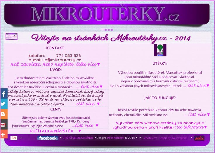http://mikrouterky.cz/ new website design