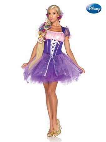 Women's Tangled Princess Rapunzel Disney Costume | Sexy Fairytale Halloween Costumes