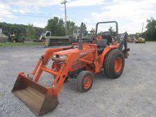1990 Kubota L2250 4x4 Compact Tractor w/ Loader & Backhoe!backhoe loader financing apply now www.bncfin.com/apply