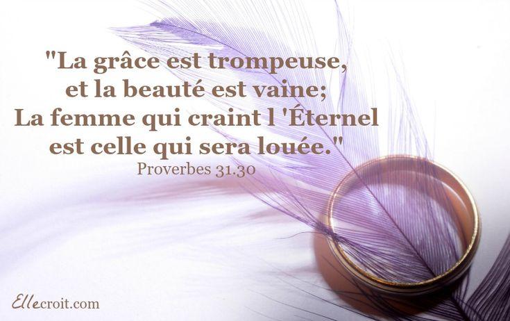 proverbes 31.30 ellecroit.com