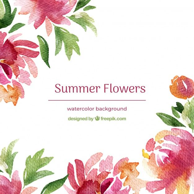 Download Watercolor Summer Flowers Background For Free Summer
