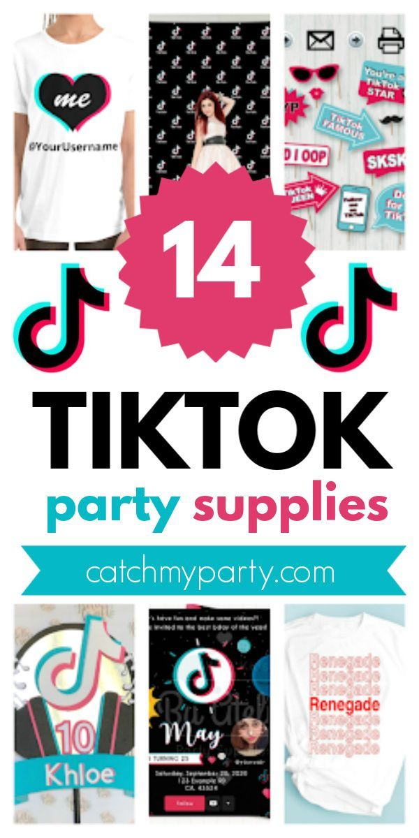 You Are Going To Love These Fun 14 Tiktok Party Supplies Birthday Party For Teens Birthday Party Activities Party Supplies
