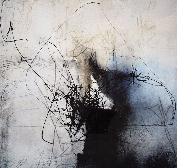 title unknown ~ ink and mixed media (?) ~ by kitty sabatier