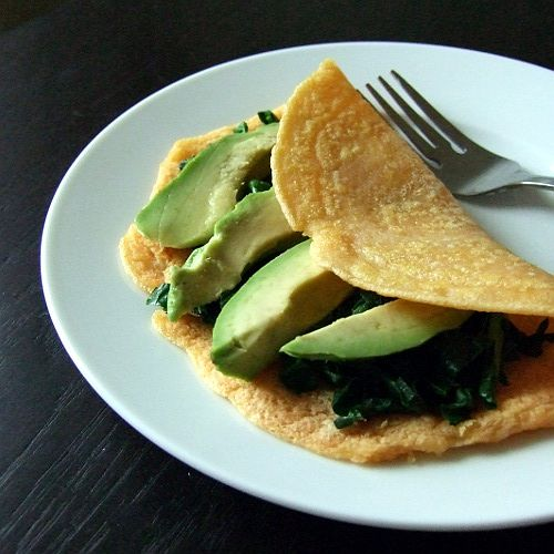 These red lentil crepes are gluten-free, dairy-free, grain-free, soy-free, nut-free and egg-free. Plus, they're flexible enough that you could spread them thinly with something like hummus, lentil pecan paté or pesto, roll up tightly and munch on as a snack; on  fill with heartier ingredients like spinach and avocado as pictured. Versatile and healthy!