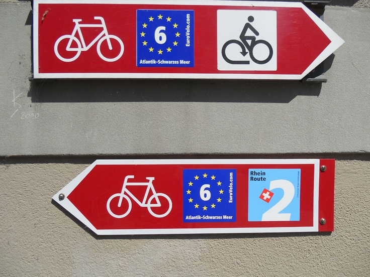 """Which way to go?"".... seen in Schafhausen/Switzerland"