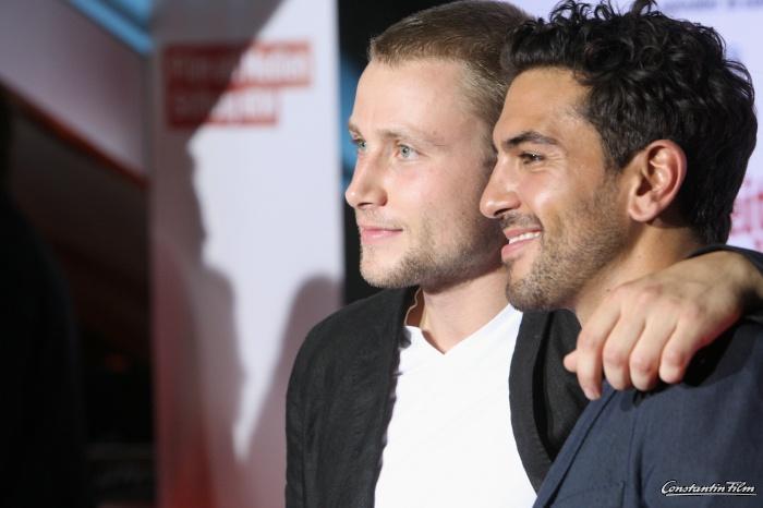 Max Riemelt und Elyas M'Barek  Heiter Bis Wolkig, Deutschlandpremiere im Cinedom, MediaPark, 21 August 2012, Köln
